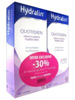 Hydralin Quotidien Gel lavant usage intime 2*200ml à St Médard En Jalles