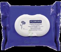 Klorane Soins des Yeux au Bleuet Lingette démaquillante biodégradable 2*Packs/25 à St Médard En Jalles