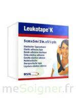 LEUKOTAPE K Sparadrap noir 5cmx5m à St Médard En Jalles