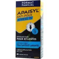 Apaisyl Anti-poux Xpress 15' Lotion antipoux et lente 200ml+peigne à St Médard En Jalles